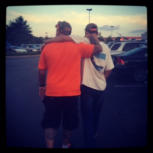 Ryan and Russell bonding on our way into Dave and Busters.